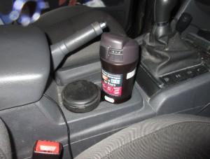 место термокружки в машине